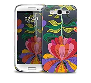 block colour floral Samsung Galaxy S3 GS3 protective phone case
