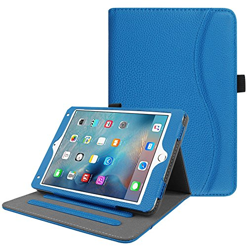 Fintie iPad Mini 4 Case [Corner Protection] - [Multi-Angle Viewing] Folio Smart Stand Protective Cover with Pocket, Supports Auto Wake/Sleep for Apple iPad Mini 4 (2015 Release), Royal Blue