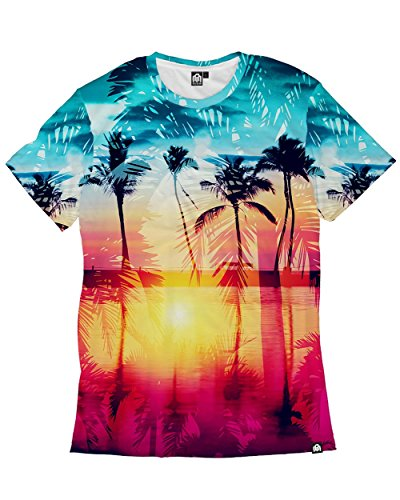 INTO THE AM Coastal Dreams Premium Men's All Over Print Tee - Palm Beach Outlets