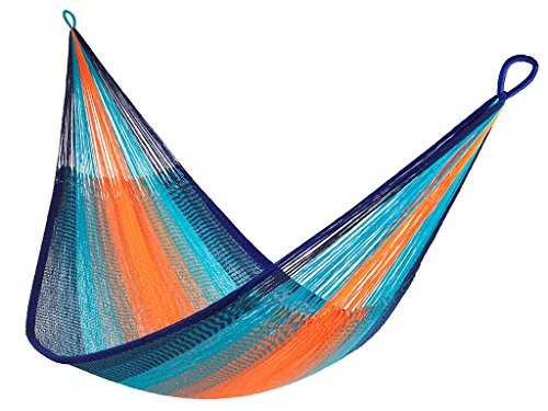 Yellow Leaf Hammocks TJ Hammock, King-Size, Kilauea - 100% hand-woven with over 4.5 miles of yarn Maximum capacity: 550 lbs Optimal hanging distance: 10-13 ft - patio-furniture, patio, hammocks - 51WdH0Ft 4L -