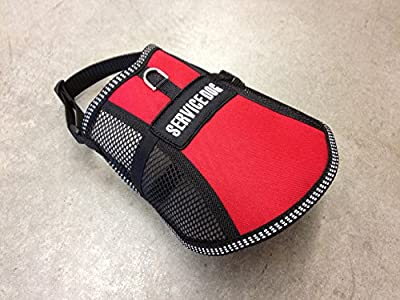 Service Dog Vest Air-Tec Jr. in Red or Blue with FREE Sewn On Service Dog Patch