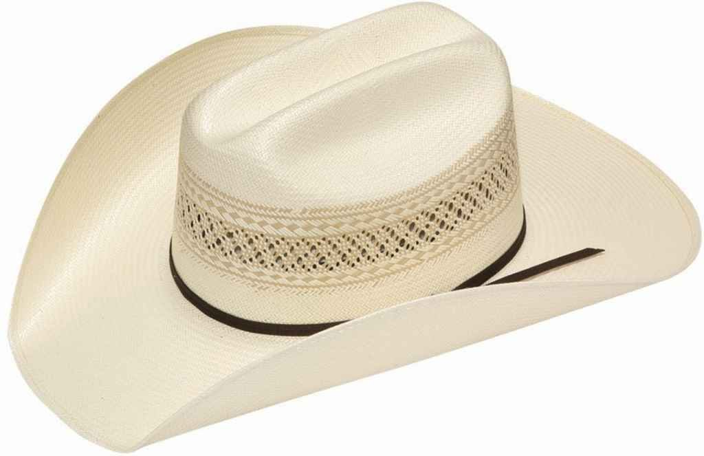Twister Men's 10X Shantung Double S Straw Cowboy Hat Ivory 7 3/8