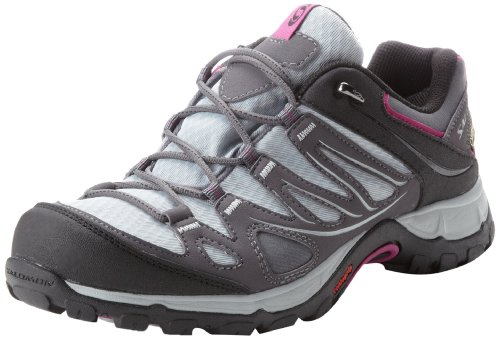 Salomon Ellipse Gtx Damen Trekking- & Wanderhalbschuhe grau - dunkelgrau - schwarz - rosa