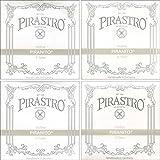 Pirastro Piranito 4/4 Violin String Set - Chromesteel/Steel - Medium Gauge - Ball End E