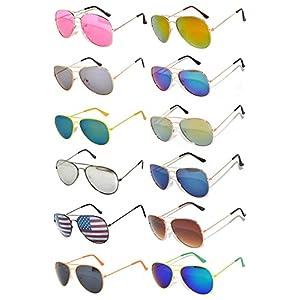 Aviator Sunglasses (w 12 pairs mix aviators) OWL.