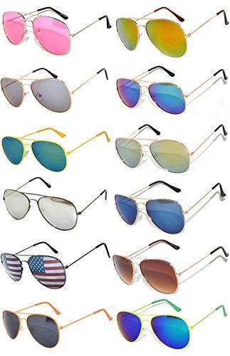 Aviator Sunglasses (w 12 pairs mix aviators) - Price Sunglasses Aviator
