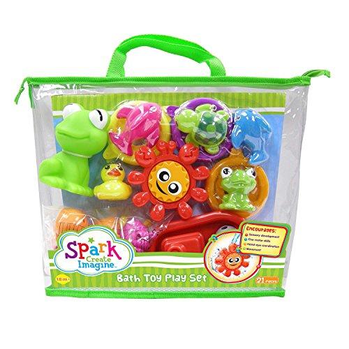 Spark Sci 21 Pcs Bath Toys Carry Bag Gift Set