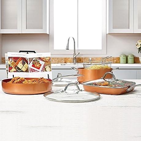 Copper Chef Pro 8 Piece Heavy Duty Pan Set