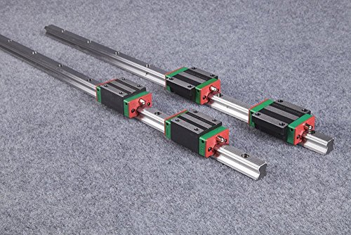 2Pcs HGR20 500mm Linear guide rail + 4Pcs HGH20CA carriages