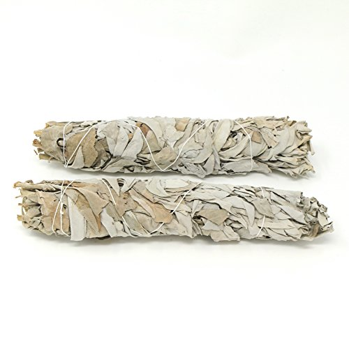 Inspiria Extra Large California White Sage for Smudging Rituals, Energy Clearing, Protection, Incense, Meditation (2 Pack) Each Stick Approximately 9 Inches Long and 2 Inches Wide