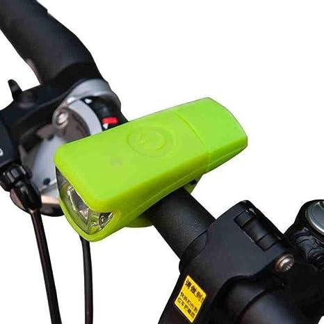 Kaxima Luces Bicicleta Lámpara de Bicicleta montaña Delantera Montar luz Linterna Silicona de Carga linternas de montaña para Poder se Utiliza Durante 5 Horas.: Amazon.es: Deportes y aire libre