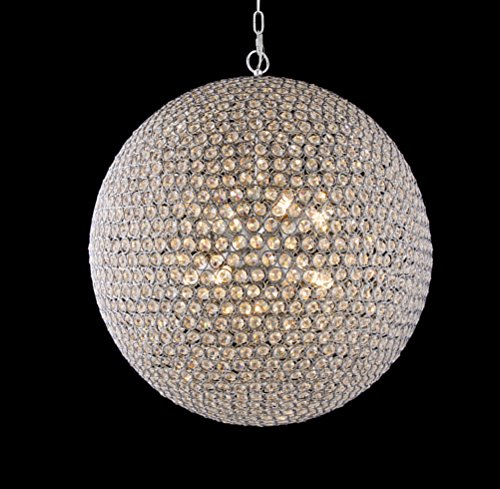 Round Crystal Ball Pendant Light