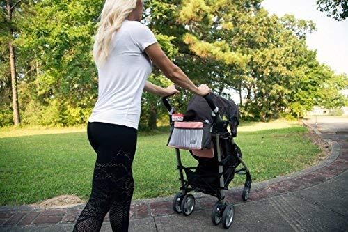 Baby Stroller Organizer - Perfect Storage Bag for Diapers, Bottles, Phone, Snacks, Bottled Water and More! - 2 Bottle/Drinks Holders, 1 Interior Mesh Pocket, 3 Exterior Pockets, 2 Stroller Straps