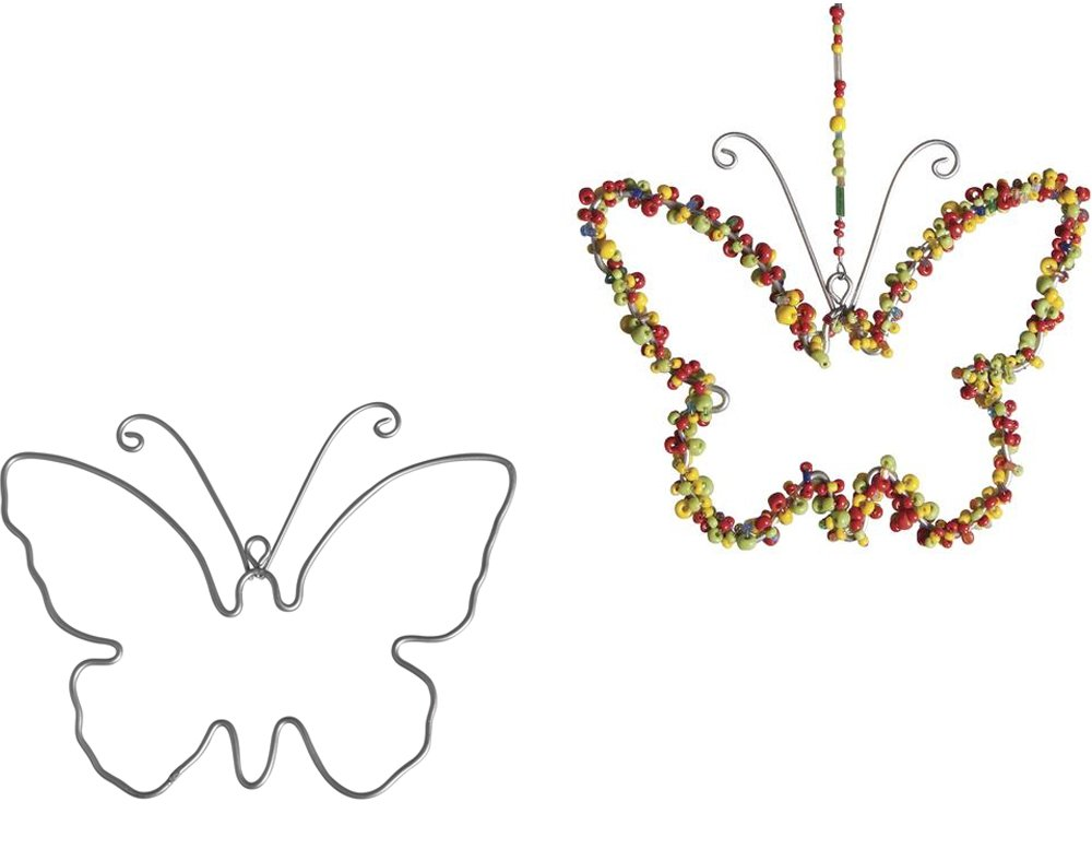 2 Hanging Metal Wire Butterflies to Decorate - 12cm | Metal Wire & Craft Hoops Crafty Capers