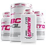 SHREDZ 30 Day Weight Loss Results Supplements Stack for Women, Clinically Tested Ingredients, Burner MAX, Toner, Detox, BCAA + Glutamine (Fruit Punch)