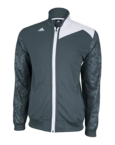 0ce803d8b15b Amazon.com   adidas Men s Team Speed Jacket - Lead White - X-Small   Sports    Outdoors
