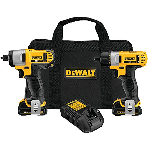 DEWALT 12V Cordless Screwdriver & Impact Driver Combo Kit (DCK210S2) (12v Drill Driver Combo)