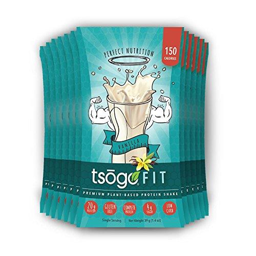 Tsogo Fit 12 Pack, Smooth Vanilla, Soy Free, Gluten Free