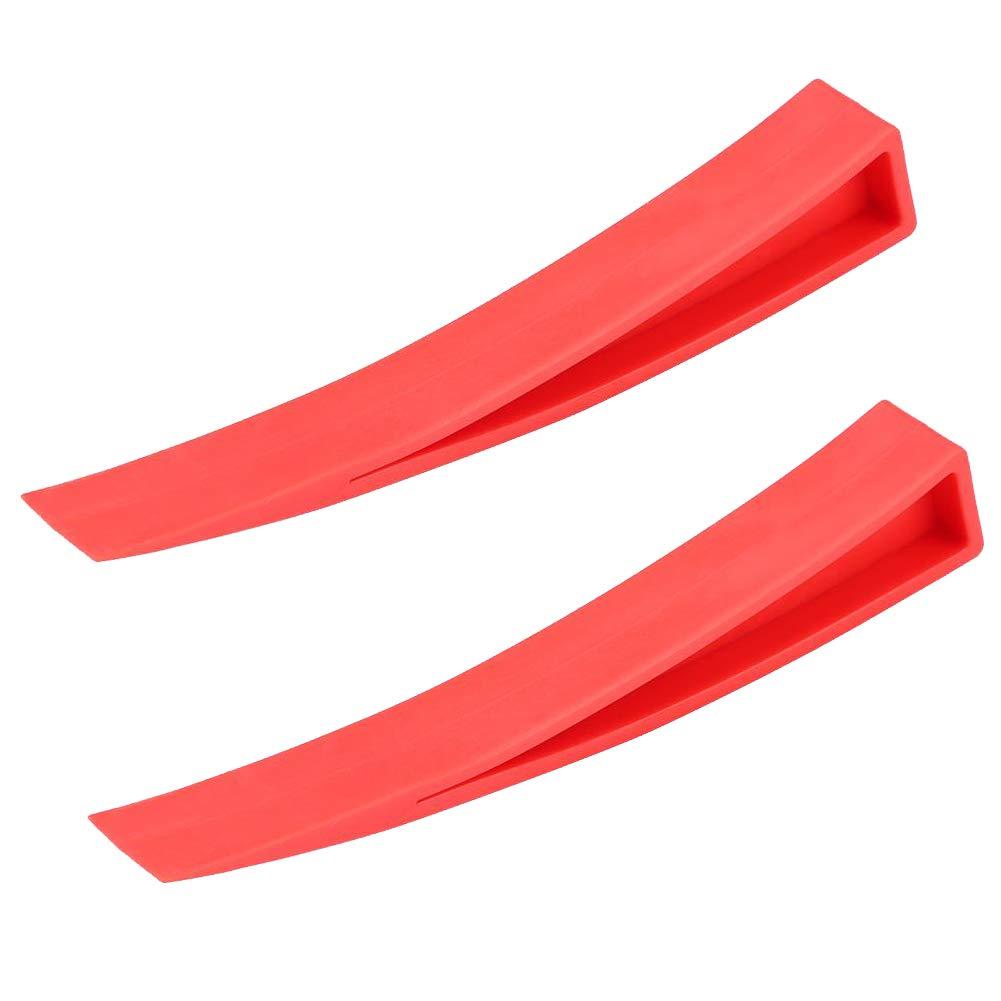 Keenso Red Window Wedge, Plastic Car Door Wedge Car Window Wedge Repair Paintless Dent Repair Tools Unlock Lockout Kit (2pc)