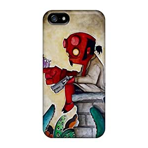 Protective Tpu Case With Fashion Design For Iphone 5/5s (hellboy)