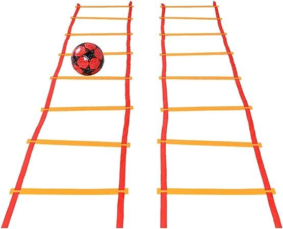 Escalera de velocidad Entrenamiento de La Escalera de Agilidad de Velocidad Agilidad Rápida para el Trabajo de Pies Ejercicios de Ayuda, Velocidad y Entrenamiento con una Bolsa de Transporte Convenien: Amazon.es: Hogar