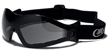 Choppers Máscara y Gafas de Sol Esquí - Snowboard - Ciclismo - MTB - Sendero - Moto - Kitesurf/Mod Custom Negro Amarillo Transparente