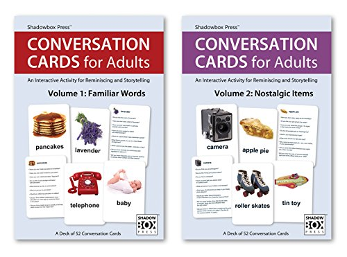 Conversation Cards - Familiar Words & Nostalgic Items - Reminiscence Activity for Alzheimer's / Dementia / Memory Loss Patients and Caregivers