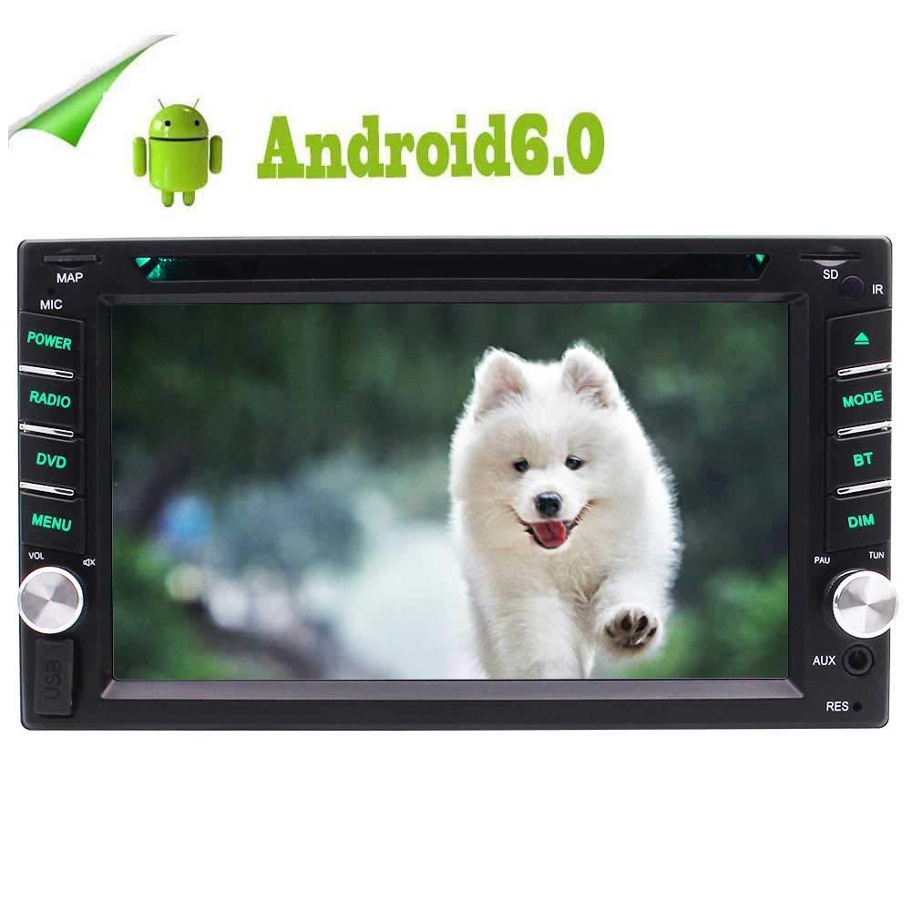 アンドロイド6.0 OSダブルDIN 2DIN 6.2インチカーステレオは、ナビゲーションカーDVDプレーヤー容量性タッチスクリーンのBluetooth WIFI 4G FM/AMラジオRDSメディアプレイヤーHD 1080PビデオスクリーンミラーSWCサポートバックアップカメラとDVRのUIをGPS   B07MKN8ZMX