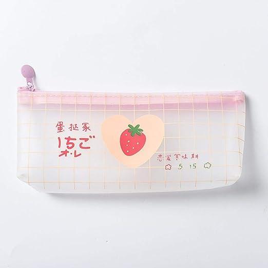 WanTo 1 Unids Kawaii Estuche para lápices Chica corazón ins Net Rojo Caja de lápices Escolar Estuche de lápices Estuche de lápices Útiles Escolares Papelería, CaoMei: Amazon.es: Hogar