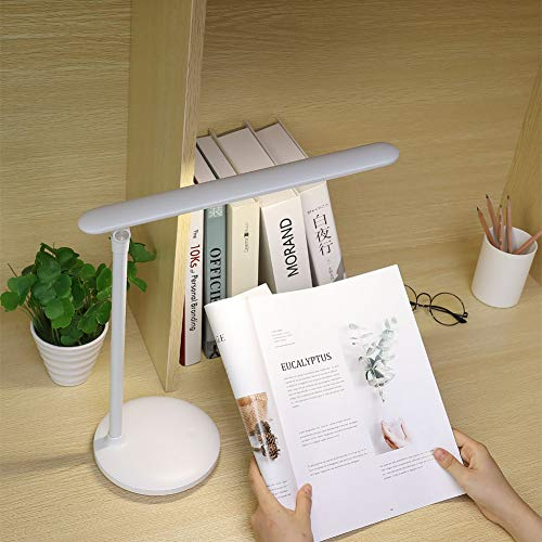 Led Desk Lamp for Study, One Fire Rechargeable Table Lamps for Dorm Office, Kids Children and Students Dimmable Adjustable Foldable Touch Lamp USB Eye Caring Desktop Computer Reading Lamp 3 Color Mode