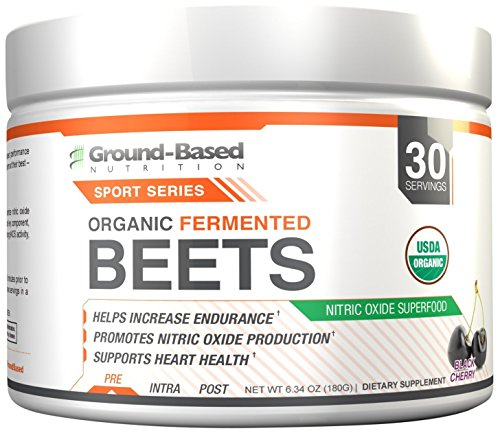 Ground-Based Nutrition Certified Organic Fermented Beet Powder, Nitric Oxide Superfood: Improve Cardiovascular Endurance, Increases Energy, Boosts Stamina, Blood Flow, No Added Sugar (3 Pack) by Ground-Based Nutrition (Image #2)