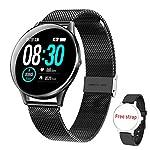 HopoFit-Smartwatch-Reloj-Inteligente-IP68-Impermeable-Pulsera-Actividad-Inteligente-con-Pulsmetro-Monitor-de-Sueo-Podmetro-Caloras-Mujer-Hombre-para-iOS-y-Android