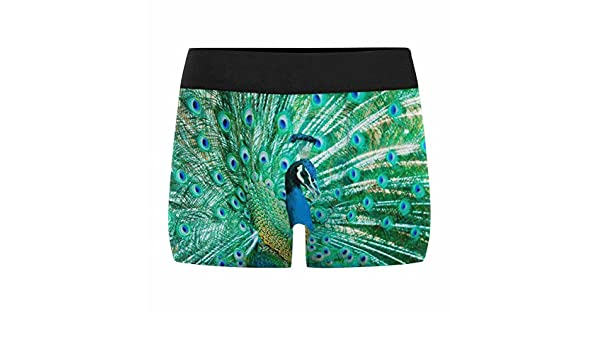 XS-3XL INTERESTPRINT Custom Mens Boxer Briefs Exotic Peacock