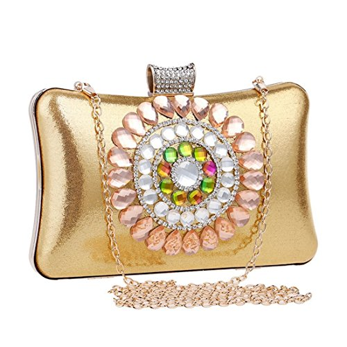 Lady Dinner Fly Gold Bag Color And BLACK Clutch evening Luxury Banquet bag American Diamond European Foreign Trade qvwvTX1x