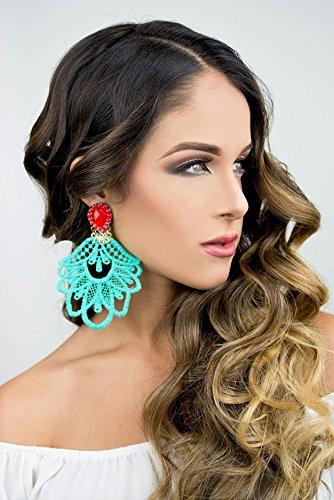 Big Dangle Earrings, Chandelier Earrings, Long Lace Earrings, Handmade Earrings, Jewelry designs, Statement Earrings, Custom Jewelry (Dangle Lace)