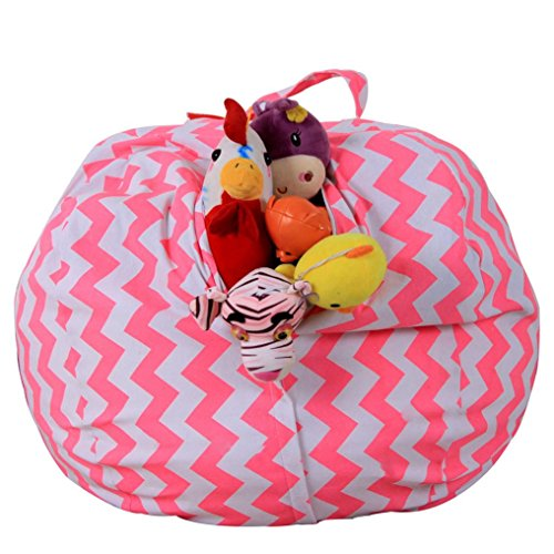 """Price comparison product image Amiley 1.4m/55.1"""" Kids Stuffed Animal Plush Toy Storage Bean Bag Soft Pouch Stripe Fabric Chair Hot Sale (B)"""