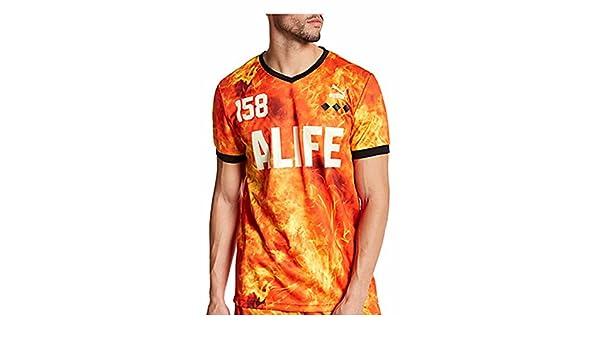 Amazon.com : New PUMA ALIFE 158 Orange Flames Jersey Shirt Soccer Mens Medium : Sports & Outdoors