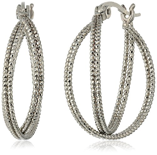 t-tahari-silver-double-wire-textured-hoop-earrings