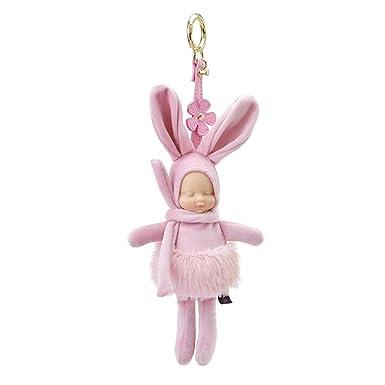 Amazon.com: Memeda - Llavero de peluche con diseño de conejo ...