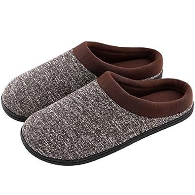 HomeTop - Zapatillas de Estar por casa para Hombre, Color Marrón, Talla S