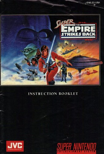 Super Star Wars - The Empire Strikes Back SNES Instruction Booklet (Super Nintendo Manual Only) (Super Nintendo Manual) - Super Nintendo Snes Manual