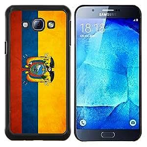 "Be-Star Único Patrón Plástico Duro Fundas Cover Cubre Hard Case Cover Para Samsung Galaxy A8 / SM-A800 ( Bandera nacional de la Serie-Ecuador"" )"