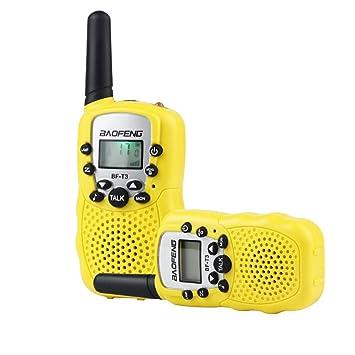 Nuheby Walkie Talkie Niños 2PCS Radio Bidireccional VOX Walky Talky 22 Canales 3 KM, Pantalla LCD Walki Talki para Niños Niñas 3 4 5 6 Años