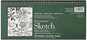 Strathmore STR-457-12 50 Sheet Recycled Sketch Pad, 5.5 by 12 by Strathmore