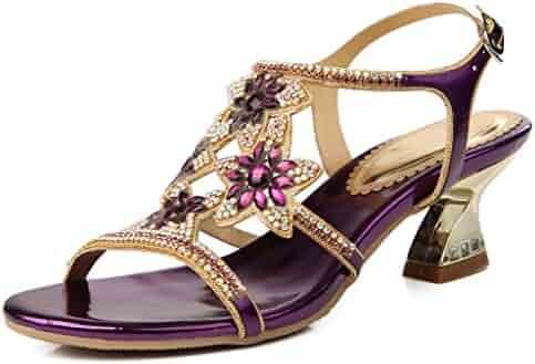 b643cc0d32ea0d LizForm Womens Fashion Wedding Bride Bridesmaid Party Prom Heeled Sandals  Comfort Low Heels