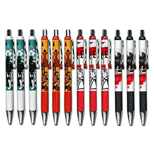 Inkworks Star Wars Pens Value Bulk Pack -- 12 Star Wars Gel Pens (Star Wars School Supplies, Office Supplies) -