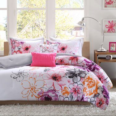 Intelligent Design Cassidy Floral Comforter Set (5 pc-full/queen) - Bedroom Collection - Kids & Teens Room - Bed Decor