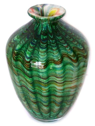 Hand Blown Murano Art Glass Vase with Certificate A37