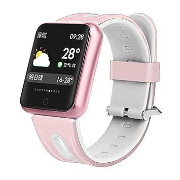 Pulsera deportiva,TechCode Relojes inteligentes Oxígeno sanguíneo Monitor de presión arterial Monitor ritmo cardíaco de actividad deportiva Monitor de sueño ...