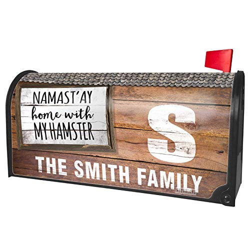 (NEONBLOND Custom Mailbox Cover Namast'ay Home with My Hamster Simple)
